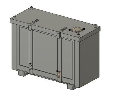 N Scale Detail Parts - Conrail Cab Signal Box (Qty 4)