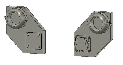 N Scale Detail Parts - CSX Ditch Light Housings (2 Pair)
