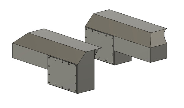 HO Scale Train Parts - Dynacell Air Filter (Qty 1 Pair)