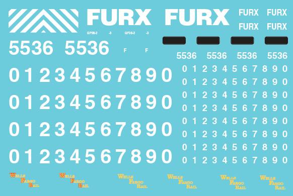 First Union Rail (FURX) GP38-2 Decals
