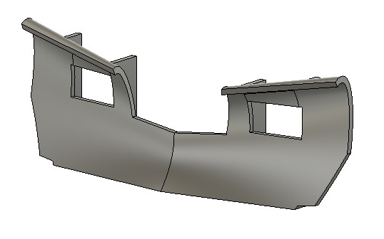 N Scale Train Parts - Western Snow Plow (Qty 2)