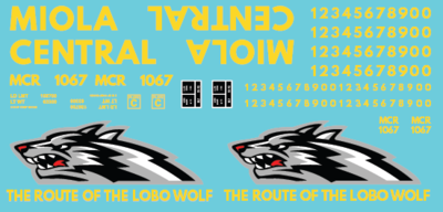 Miola Central Lobo Wolf Box Car Decal Set