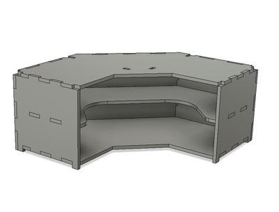 TabTec Workbench Corner Shelf Unit
