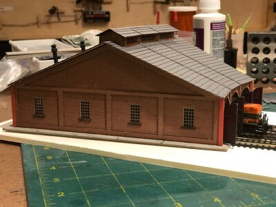 Pennsylvania Railroad (PRR) 3 Stall Roundhouse Laser Cut Building Kit