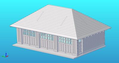 3 Stall Garage Laser Cut Building Kit