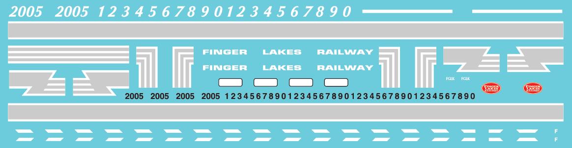 Finger Lakes Railway GP38 - Alternate Lettering Style (2019+) Decal Set