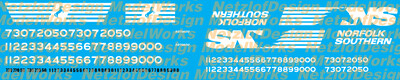 Norfolk Southern SD70ACU Decal Set