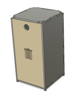 TabTec Workbench Tilting Garbage Bin
