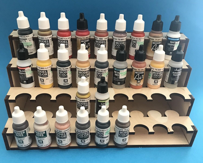 TabTec Workbench Organizer - 12in Vallejo Paint Rack