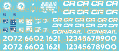 HO Scale - Conrail Paint Out Decal Set