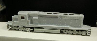 HO Scale Trains, CSX SD40-3 Locomotive Shell, no fans