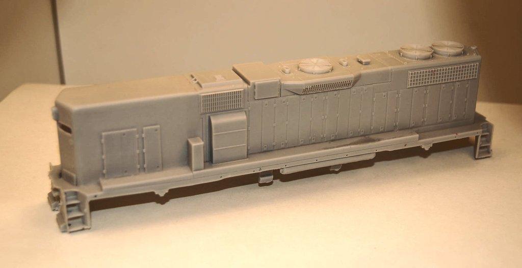 GP38-2 B Unit with Dynamic brakes, Engine Shell, HO Scale Trains, by Puttman Locomotive Works