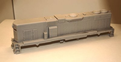 GP38-2 B Unit with Dynamic brakes, Engine Shell, HO Scale Trains, by Puttman Locomotive Works