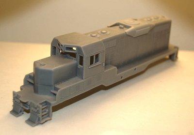 GP7u Topeka Cab with Dynamic Brakes Engine Shell, HO Scale Trains, by Puttman Locomotive Works