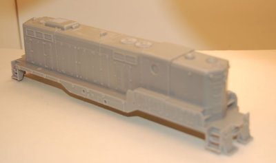 GP7 B Unit without dynamic brakes, Engine Shell, HO Scale Trains, By Puttman Locomotive Works