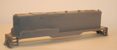 GP9 B Unit, without Dynamic Brakes, Engine Shell, HO Scale Trains, by Puttman Locomotive Works