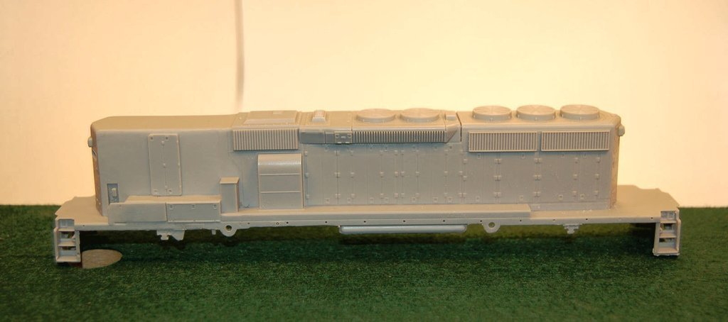 SD40-2 B Unit, with Dynamic Brakes , Engine Shell, HO Scale Trains, By Puttman Locomotive Works