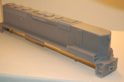 SD45-2 B Unit, Phase 2, Engine Shell, HO Scale Trains