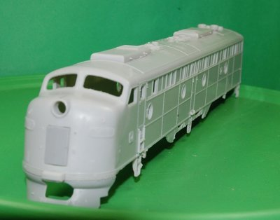 E-8 A Unit Engine Shell with Parts, HO Scale Trains by Puttman Locomotive Works