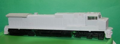 C40-9W Engine Shell, HO Scale Trains, by Puttman Locomotive Works