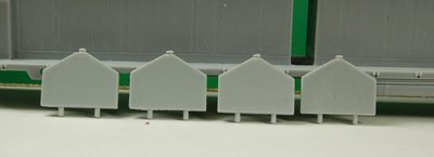 DD35 A or B Unit Sand Boxes for UP, (4 Pack), HO Scale Trains