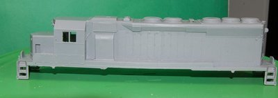 SD40X UP Version, Engine Shell, HO Scale Trains, by Puttman Locomotive Works