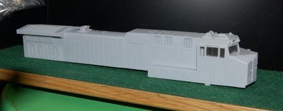 NS AC44C6M Engine Shell for MTH ES44 AC or DC Sill/Walkway and Chassis, HO Scale Trains