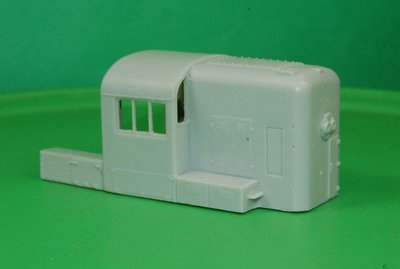 HO Scale RS3 Hammer Head Cab Section