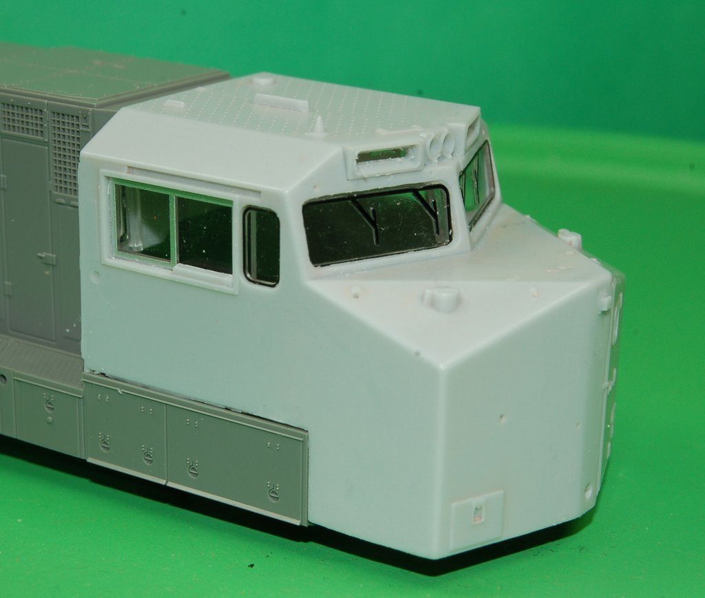 Dash 9 Norfolk Southern Cab Section, HO Scale Trains