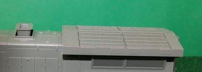Radiator Section and Smoke Stack fits Kato C44-9, HO Scale Trains