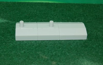 RS3M Conrail Variant, Canted Hood Section, HO Scale Train Kitbash Parts