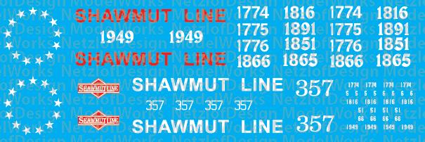 N Scale - Pittsburg & Shawmut Bicentennial Locomotives