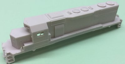 N Scale - SD38 w/ Dynamic Brakes Locomotive Shell