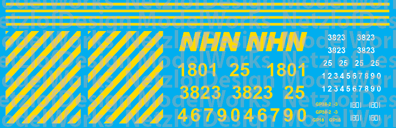 N Scale - New Hampshire Northcoast Locomotive Decals (2016+)