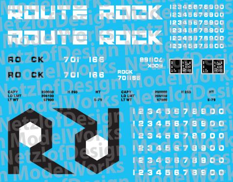 HO Scale - Rock Island Blue Open Hopper Decal Set