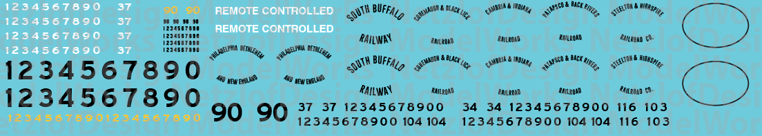 HO Scale - Bethlehem Steel Locomotive Decals