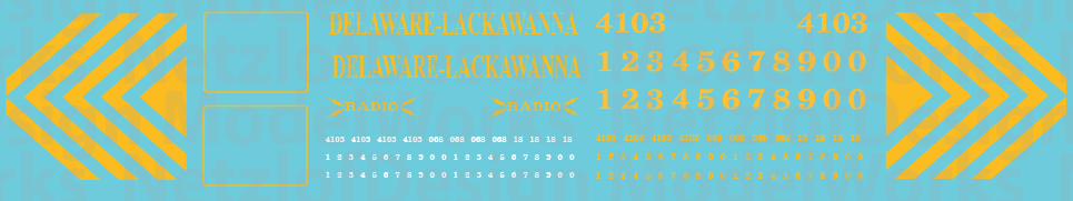 HO Scale - Delaware-Lackawanna Railroad RS3 Decals