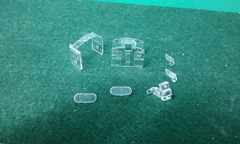 N Scale Detail Part - FM H20-44 / H12-44 Glass Set
