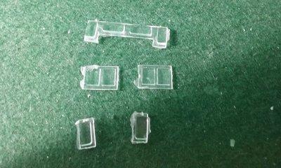 HO Scale Detail Part - EMD GP35 Cab Glass Set