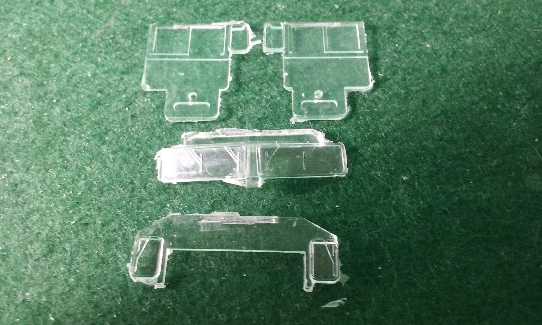 HO Scale Detail Part - GE AC44C4M Cab Glass Set