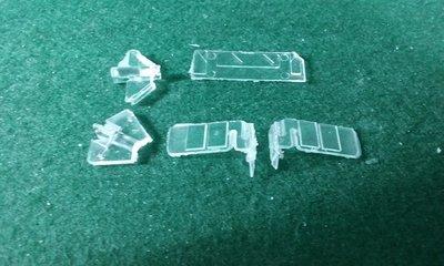 HO Scale Detail Part - Alco RS32 Cab Glass Set