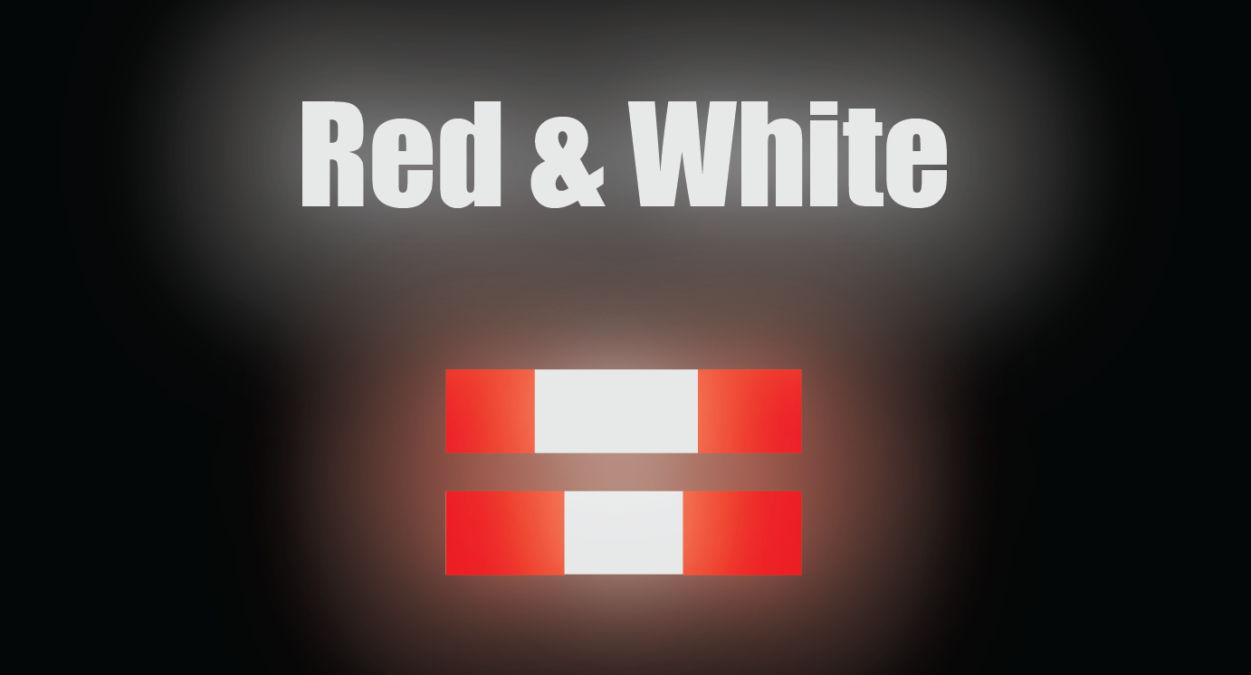"""HO Scale Reflective Striping - 4"""" Red/White Narrow Reflective"""
