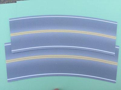 Easy Streets HO - Aged Asphalt-Broad Curve No Passing