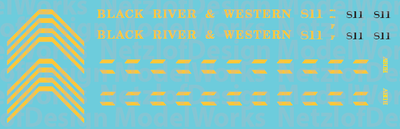 HO Scale - Black River Western GP9 #811 Decal Set