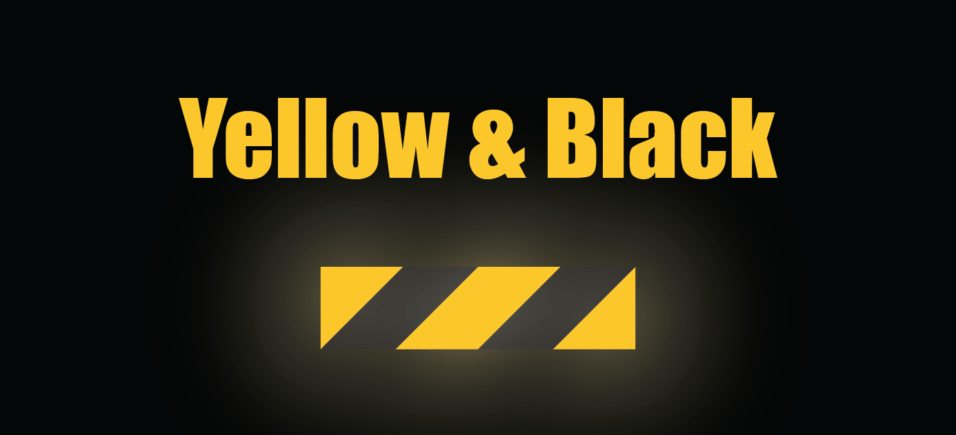 """HO Scale Reflective Striping - 4"""" Yellow/Black Wide Reflective"""