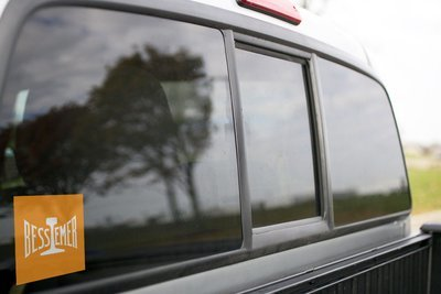 Vinyl Sticker - Bessemer & Lake Erie (BLE) Orange Rail Logo
