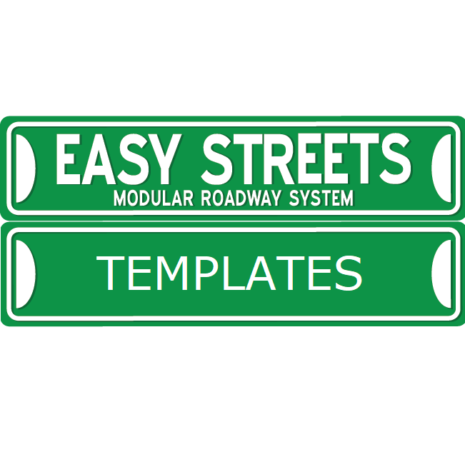 Easy Streets - N Scale Road Templates EST-N