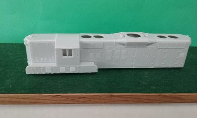 GP9 Phase 2 Atlas Conversion Body Shell, Cab, with Dynamics, HO Scale Trains