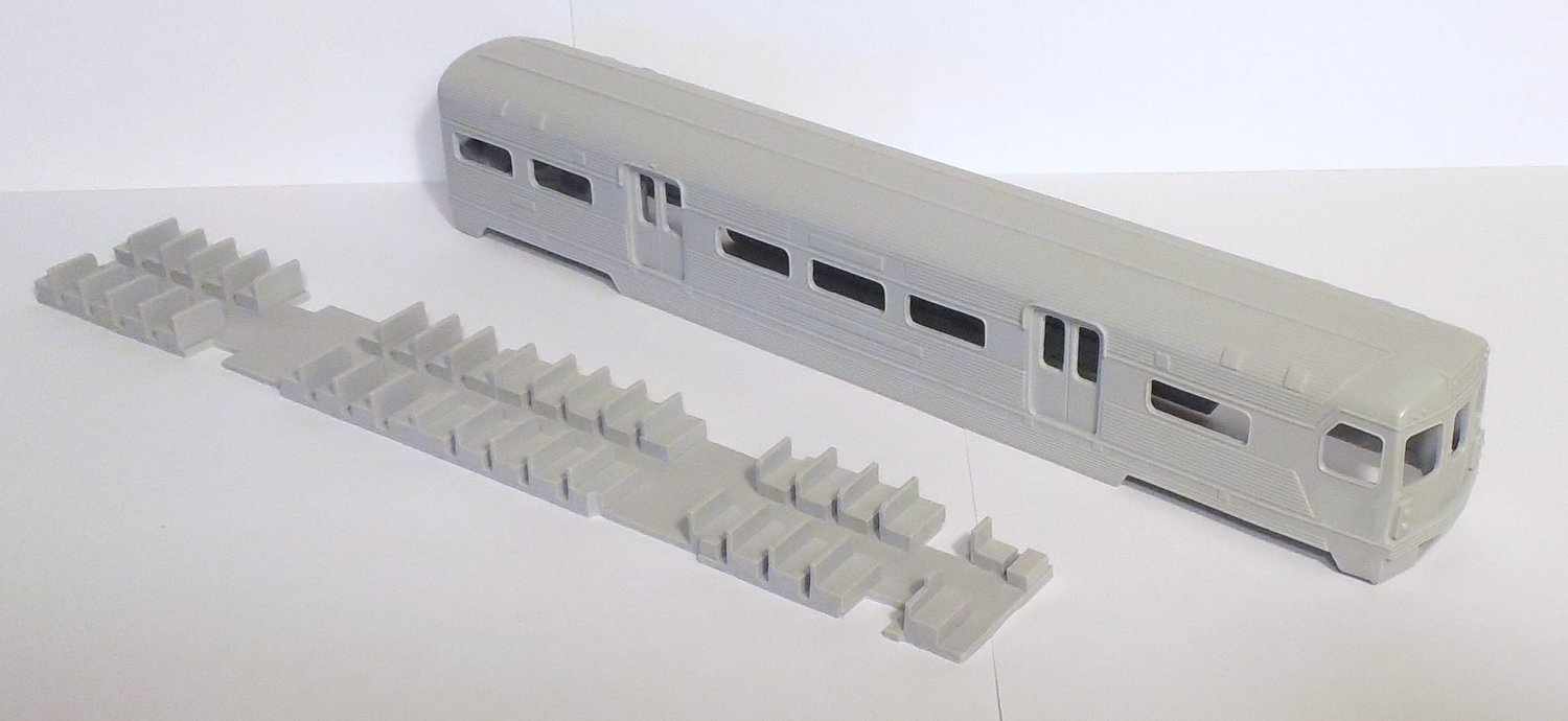HO Scale - PATCO-1 Transit Car 2-unit married pair Resin Body Kit