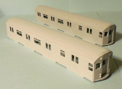 HO Scale - Budd NYCTA R32 subway/transit car body 2-shell married pair set